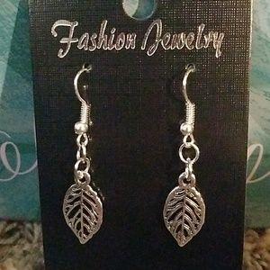 Hand-made leaf earrings